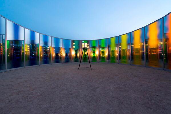 Olafur Eliasson - Panoramic Awareness Pavilion at Des Moines Art Center in Iowa http://t.co/2UnA0FIwcj
