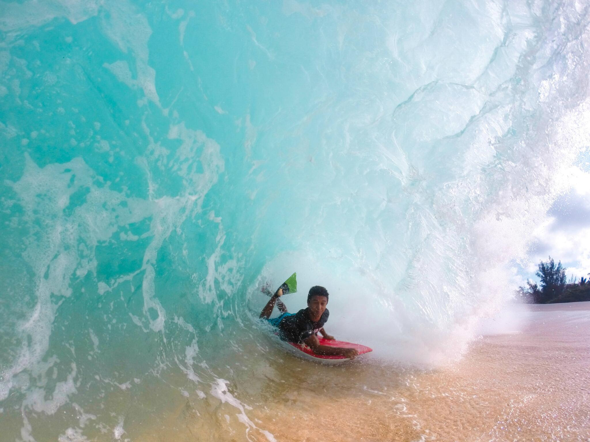 Photo of the Day! This one's gonna hurt. Photo of his friend Kainalu running out of water by @anthony_walsh_. #GoPro http://t.co/hBtfdSjvbU