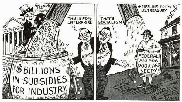 """"""" @LeeGoaa If you're going to end welfare, then the corporations should be the first to lose theirs. http://t.co/DJtfGazrUq """""""