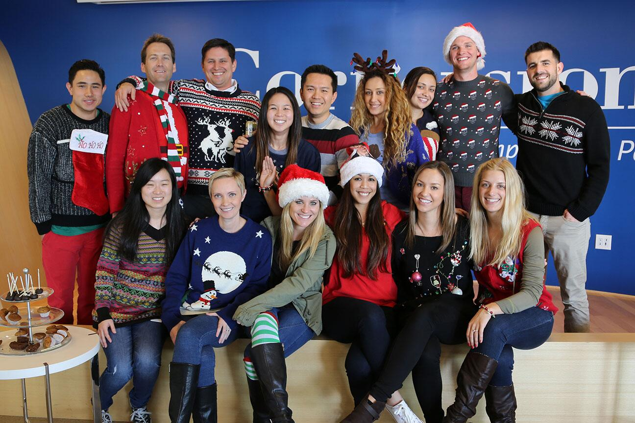 Cornerstars celebrating the time-honored tradition of the #UglyChristmasSweater #HappyHolidays http://t.co/iCXSWLQqjT