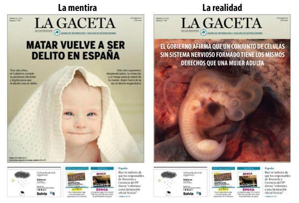Alberto Cairo (@albertocairo): Propuesta de rediseño de la mentirosa primera página de La Gaceta de hoy cc @ramonlobo http://t.co/Srgzv9m2IE