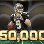 Brees has surpassed 50,000 passing yds for his career, becoming just the 5th QB in @NFL history to reach that mark http://t.co/xIPi8o5h0J