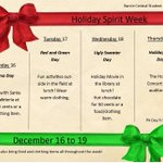 RT @BCC1314: Holiday Spirit Week is coming up! Take a look at the poster. http://t.co/w9Ie19NeNk