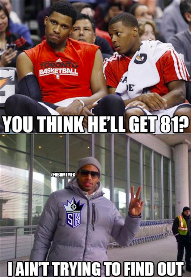 @NBAMemes: Kobe Bryant scares off Rudy Gay to Sacramento! #Trade #Kings