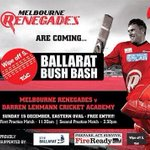 RT @01AmyJohnson: Very, very excited for this #ballarat #bushbash #melbourne #renegades 15th dec at Eastern Oval http://t.co/A7NuXifbnc
