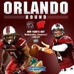 The #Gamecocks are Orlando-bound! Carolina will take on Wisconsin on New Years Day in the @CapitalOneBowl. http://t.co/5Hc1gzhuNu