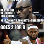 RT @NBAMemes: Kobe Bryant Fans Logic about #TheReturn! #Lakers #LeBron http://t.co/KDdbfY4crD http://t.co/KDj7qlEo7q