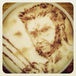 RT @RealHughJackman: Now THATS a barista @livelaughingman #art #coffeeclaws http://t.co/2LOQFRnPFZ