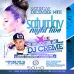 #SATURDAYNIGHTLIVE @SohoNJ LIVE @X963FM wit @DJCREME Everyone Free Before 11pm on Guestlist 2014617744 http://t.co/QvhdiJXahA /{