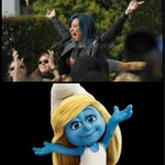 WAKE UP IN THE MORNING FEELING LIKE A SMURF @ddlovato Lovatics #MusicFans #PeoplesChoice http://t.co/sL3ncodg6a