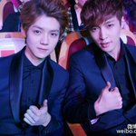 """@EXO_FANBASE : [OFFICIAL/WEIBO] 131209 LUHAN & LAY - Top Chinese Music Billboard http://t.co/Uy71lUlyaJ"""