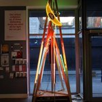 Tron-inspired #Christmas tree?Only with @projectarts. Via @lecooldublin #Christmas #Dublin #GetCreative http://t.co/3kf5RVeibi
