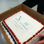 Cake to celebrate merger of US Airways and American. @wcnc http://t.co/pksn8IKRcY