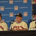 Tony La Russa, Bobby Cox & Joe Torre address the media Monday after being elected to the Hall of Fame. #HOF2014 http://t.co/ysrrFXBNhL