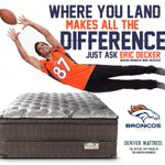 Where you land makes all the difference. Just ask @EricDecker87 #denvermattress #broncos #sleepbetter http://t.co/mf8MUPVmBv