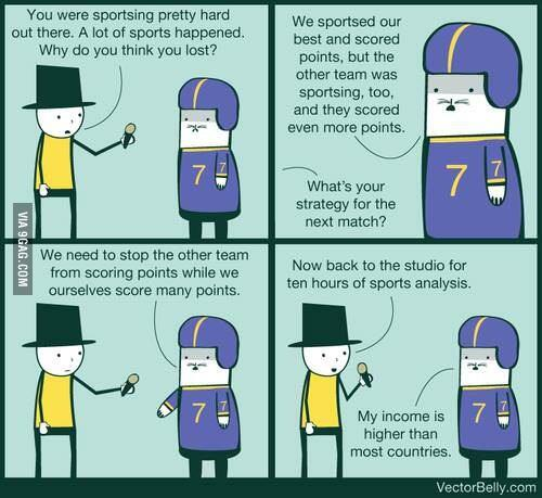 Every sports interview ever.
