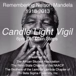 RT @PsuASA: In remembrance of Nelson Mandela. Old main steps 6PM. @NAACP_PSU @PSU_SIGMAS http://t.co/aRJJ9YsnFd