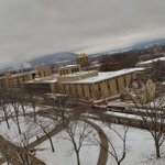 Clouds over Mount Nittany and a snow covered campus: http://t.co/mUk0NRlrVA
