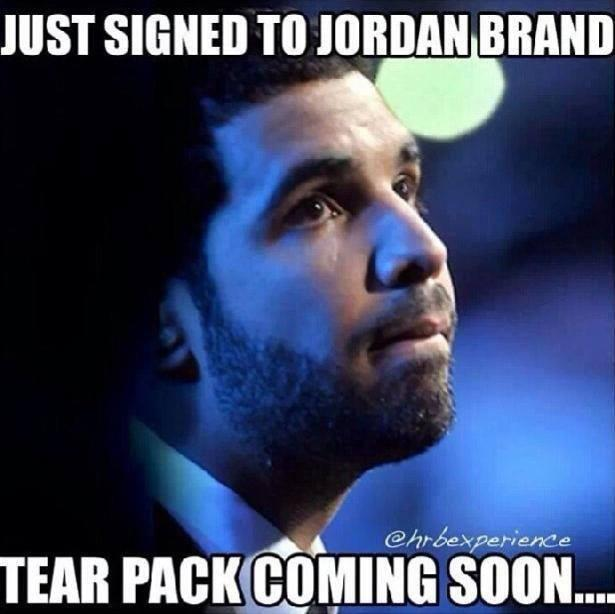 @kicksonfire: And the Jordan Brand and Drake memes begin...