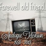 Analogue tv gets switched off in #Melbourne FOREVER at 9am this morning. #RIP @mrmikechristian http://t.co/lmNneqg2YD