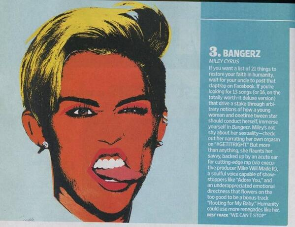 .@MileyCyrus' #Bangerz hit the number 3 spot on @EW's The Year's Best Albums List. Check it out here: http://t.co/QEEZWlPYC9