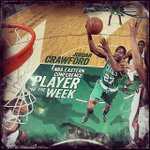 RT @celtics: Congrats to @jcraw55 on being named @NBA Eastern Conference Player of the Week! #GreenRunsDeep http://t.co/3D7cwK39Wm
