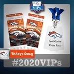 ATTN: #BroncosCountry, #2020VIPs GIVEAWAY: 2 Club Lvl Tix+Post Game Press Passes #SDvsDEN RT/Follow for chance to win http://t.co/8hcuzClsJv