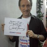 "David Pomeranz says his love is with #YolandaPH survivors. ""My arms are around you!"" #TulongPH http://t.co/41jbx1hDfy http://t.co/L6F7Z3Gcyi"