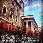 Snow and red berries lent a holiday look to Old Main: http://t.co/EP76Bg1RhL