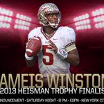 RT @FSU_Football: Jameis Winston just named a finalist for the 2013 Heisman Trophy! http://t.co/klex7SXG4Q