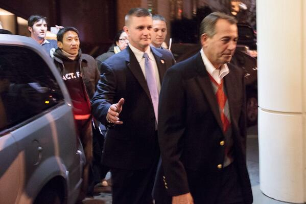 .@SpeakerBoehner leaving fundraiser, refuses to speak to fasters. RT if you think he shld listen #Fast4Families http://t.co/XLg5ForE3u