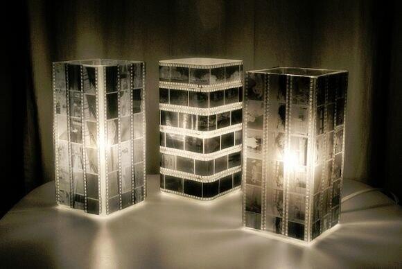Креативный светильник из фотопленки. http://t.co/PLWG3Ug2yA