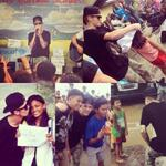 Justin Bieber in Tacloban. #YolandaPH #GiveBackPhilippines #MaramingSalamatBieber. Credit to the photo owners. http://t.co/6Xdl807jeM
