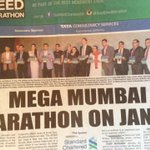 Can u spot us? 2 women in a sea of men haaha..Lookin 4ward to the #GoodDeedMarathon & our @runscmm  @TheBombayTimes