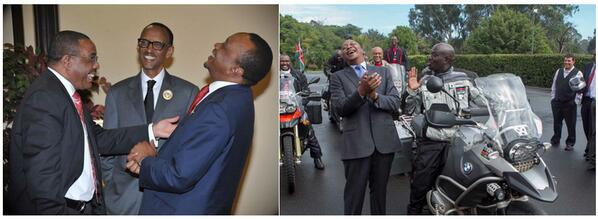 """I should compile a list of these, how our president laughs... """"The Uhuru Lean Back Laugh"""" :) http://t.co/PpGE9WNl3z"""