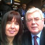 RT @EamonGilmore: Privileged to be at Mandela memorial with former Dunnes Stores striker Liz Deasy http://t.co/cqi5XC063I