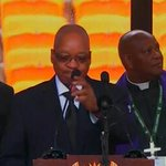 President of South Africa, Jacob Zuma, addressing crowd at #Mandela memorial service. #9newsmornings http://t.co/LSmxsOY79l