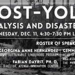 Post-Yolanda Forum tomorrow at Leong Roofdeck, 430-730PM!!! See you guys there! :) http://t.co/fidAAqFpn2