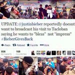 "Jb wants to ""Bless"" not to ""Impress"". Justin Bieber in Tacloban :) #MaramingSalamatBieber :""> @justinbieber http://t.co/y2WOTAwr7n"