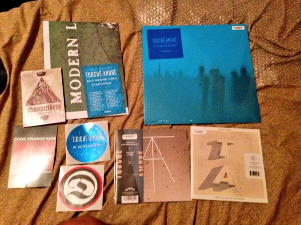 RT @gheybriel: So happy that my @ToucheAmore vinyls came in! Thank you @deathwishinc http://t.co/18xOUaIEd5