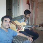 Rohan strumming and singing some amazing songs. Having a great time!!! http://t.co/ma11zkOdQX