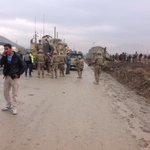 RT @AhMukhtar: Photo from todays attack on #ISAF convoy in northern gate of Kabul airport. http://t.co/O0y4FknPMM