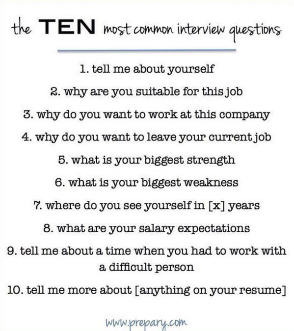 The 10 most common interview questions http://t.co/fuKNmqABH2