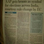 Another Cheers for AAP!!! EC change norms and give broom symbol to Aap across India. http://t.co/kghS0Yuoz2