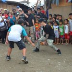 never in my dreams Justin Bieber will play basketball in the street court in the Philippines #MaramingSalamatBieber http://t.co/BkFWUomIZE