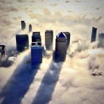 RT @WilliamsJon: Incredible aerial photos of foggy London from @MPSinthesky - skyline of City poking thru low cloud. http://t.co/hi421pAz27