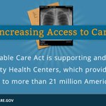 RT @BarackObama: The Affordable Care Act is expanding community health centers all over the country: http://t.co/uMvA8wtQHW""