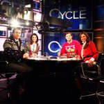 RT @HuntsmanAbby: Ugly holiday sweaters on @thecyclemsnbc today. Good times! @AriMelber @krystalball @LukeRussert http://t.co/SNd8SN8IFR