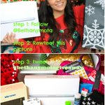 Holiday Giveaway! RT this tweet, Follow me on Twitter, and tweet hash tag #BethanyMotaGiveaway! Happy Holidays! 🎁🎅🎄 http://t.co/bDkqnnqqtz