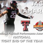 Congratulations to #TexasTech TE Jace Amaro-Named College Football Performance Awards National Tight End of the Year http://t.co/SrsgW7iQDC